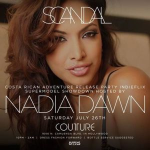 "Nadia Dawn will host a ""Supermodel Showdown Costa Rican Adventure"" in Hollywood TONIGHT"